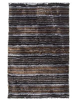 MAT The Basics Delhi Rug, Black/Silver, 5' x 8'