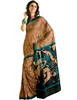 Orbymart Exclusive Designer Raw Silk Multi Colour Printed Saree - 55252266