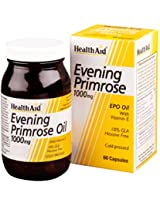 Super food Healthaid Evening Primrose Oil 1000mg + Vitamin E 60 Capsules Natural extracts