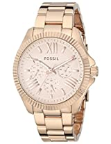 Fossil End-of-Season Cecile Analog Pink Dial Women's Watch - AM4569