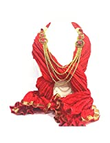 NJS Women's Stole (#JST 28A_Red_Free Size)
