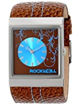 Rockwell Rockwell Time Unisex Mc115 Mercedes Brown Leather Band With Brown/Blue Dial Watch - Mc115