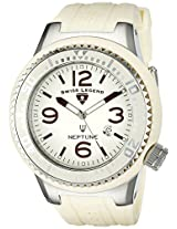 Swiss Legend Watches, Men's Neptune Ivory Dial Vanilla Rubber, Model 21818P-16
