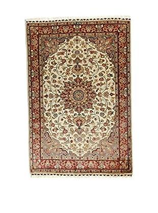 L'Eden del Tappeto Teppich Kashmirian F/Seta braun/ecru 182t x t121 cm