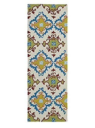 Kaleen Home & Porch Indoor/Outdoor Rug, Ivory, 2' x 6' Runner