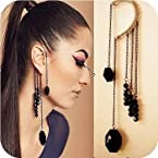 black beaded designer ear cuff