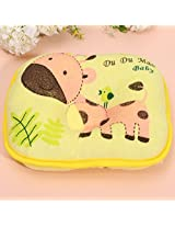 Cute Deer Soft Infant Toddler Baby Pillow Anti Migraine Bedding Head Shape Support Cotton Cushion (Yellow)