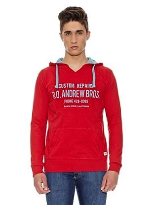 Carrera Jeans Sudadera Capucha (Rojo)