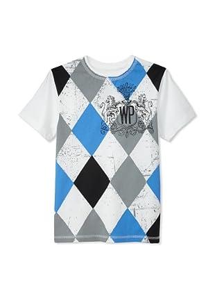 Warrior Poet Boys Argyle T-Shirt (White)