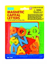 megcos Magnetic Capital Letters in a Blister Card, 36-Piece