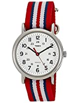 Timex Weekender Indiglo Analog White Dial Unisex Watch - T2N746
