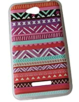 Soft protective TPU back cover all over beautiful printed in abstract design .. 100% compatible for : HTC-616