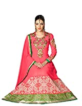 Styliner beautiful floor lenght embroidery suit