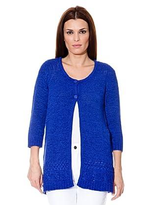Cortefiel Long-Cardigan (Blau)