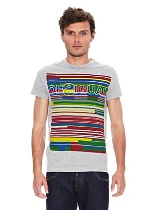 Desigual Camiseta Ital Rep (Gris)