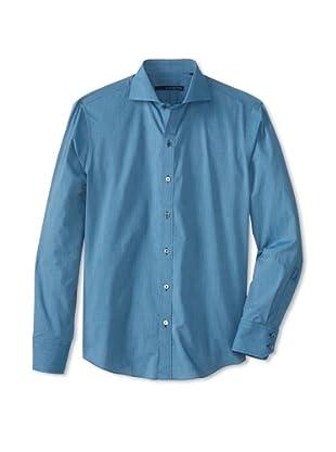 Zachary Prell Men's Andrisen Solid Long Sleeve Shirt (Blue)