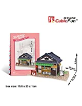 3D Jigsaw Puzzle Izakaya (pub) CubicFun 3D Puzzle W3102h 25 Pieces Decorative Fashion Best Seller Cu