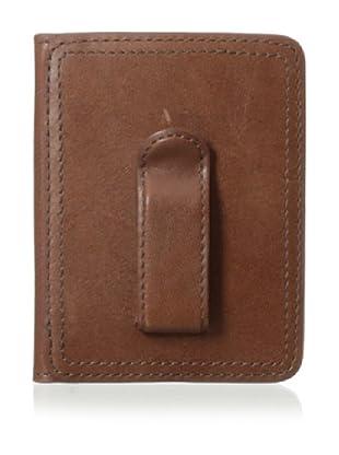 Bosca Men's Faustino Front Pocket Clip Wallet (Brown)
