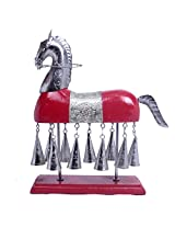 Decorative Red Horse With Bells