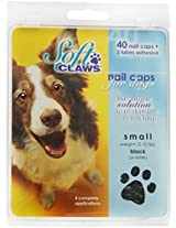 Canine Soft Claws Dog and Cat Nail Caps Take Home Kit, Small, Black