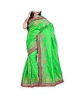 Green Bhagalpuri Saree