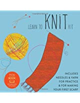 Learn to Knit Kit: Includes Needles and Yarn for Practice and for Making Your First Scarf-featuring a 32-page book with instructions and a project (First Time)