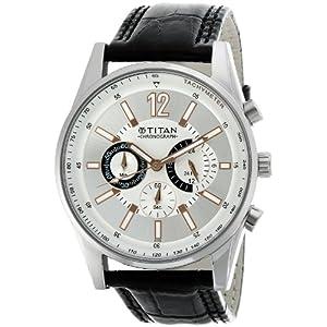 Titan Octane Chronograph Silver Dial Men's Watch - NE9322SL01A