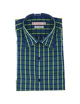 Fashionbean Blue & Green Check Shirt for Men