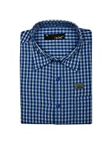 Blog Men's Blue Full Sleeve Formal Shirt-FS30