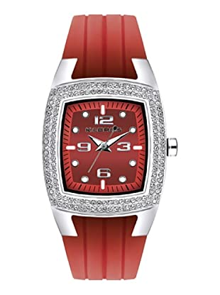 K&BROS 9103-4 / Reloj de Señora  con correa de caucho rojo