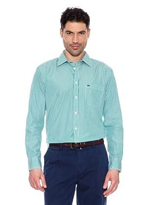 Pedro del Hierro Gestreiftes Hemd (Grün)