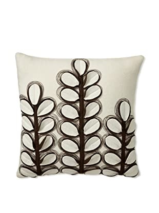 Zalva Coriander Decorative Pillow, Cream/Brown, 18