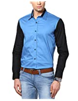 See Designs Men Buttoned Shirt (SDMDWWS14SH612_XXL, ROYAL BLUE, XXL)