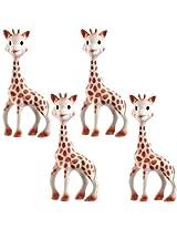 Vullie 616324-4 Sophie the Giraffe Teether Set of 4