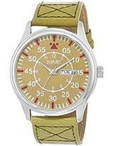 August Steiner Men's AS8074TN Quartz Tan Dial Tan Leather Strap Watch