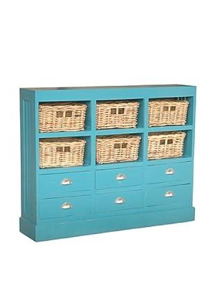 Jeffan Nantucket Storage Cabinet, Antique Sky Blue