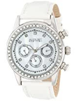 August Steiner Women's AS8018SSW Multifunction Dazzling Strap Watch