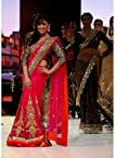 Yami Gautam Red Saree At Walked The Ramp IIFA Collection