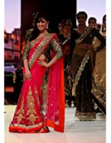 Yami Gautam Red Saree At Walked The Ramp IIFA Collection