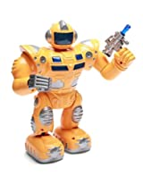 RIANZ Super S Walking warrior Robot with LED Lights, New Design and Music Robot Toy for Kids