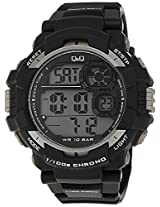 Q&Q Regular Digital Black Dial Men's Watch - M143J002Y