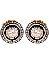 Ada Designer Jewellery Gold Silver Alloy Stud Earrings for Women (ER-7)
