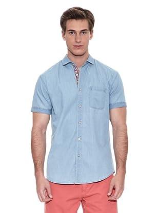 Springfield Camisa Camisa Verano B1 Denim Bleach (Azul)