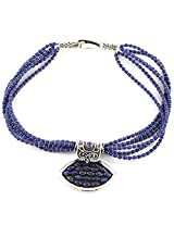 925-Silver Lapis Princess Gemstone Necklace With Pendant For Women 11621