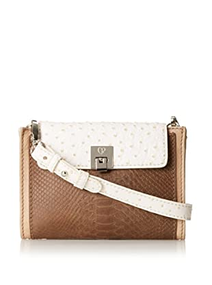 Charlotte Ronson Women's Mixed Exotic Cross-Body (Sand)