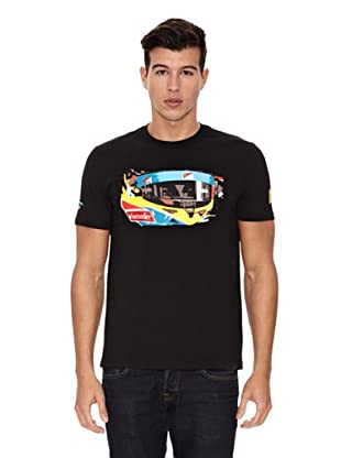 Ferrari Camiseta Santander Alonso Visor (Negro)