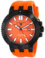 Swiss Legend Men's 10126-BB-01-OA Challenger Analog Display Swiss Quartz Orange Watch