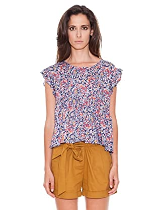 Women secret Camiseta Ruffle Top (Azul)