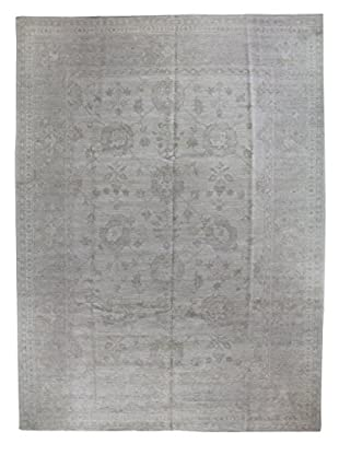 Bashian Rugs One-of-a-Kind Hand Knotted Paki Oushak Rug, Ivory, 9' x 12' 2