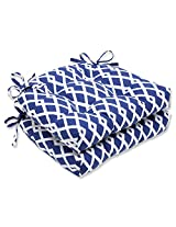 Pillow Perfect Graphic Ultra Marine Reversible Chair Pad, Set of 2
